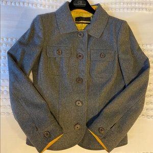 CH Carolina Herrera Gray Blazer/Jacket Sz.6